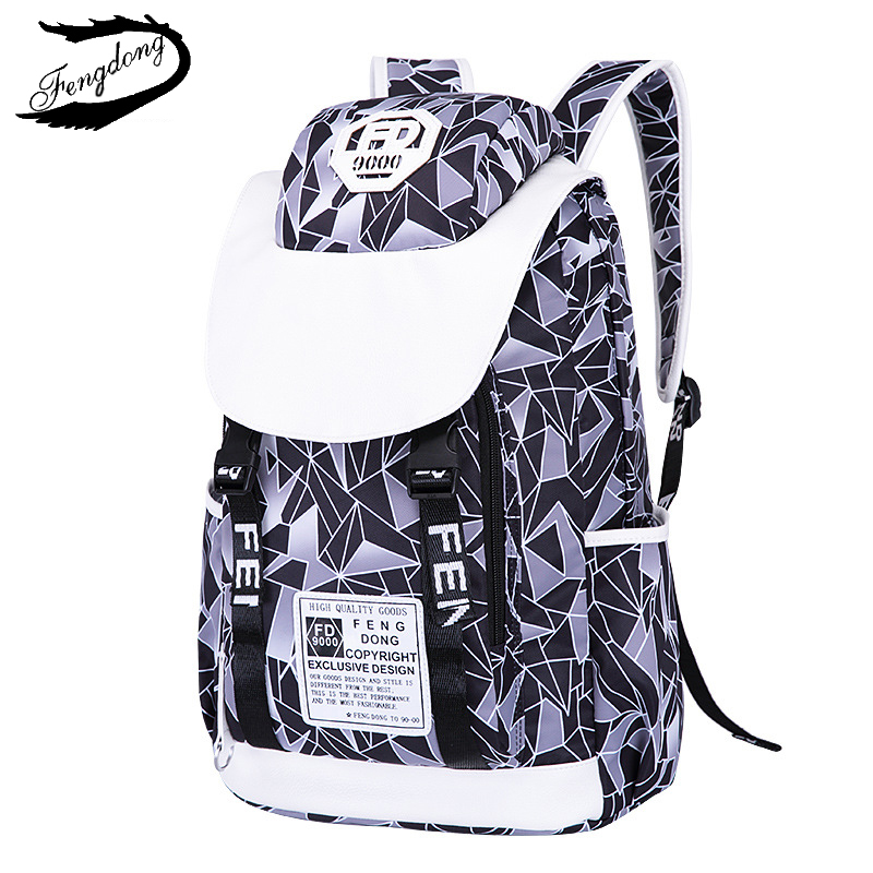 Fengdong New Students School Bag Women Backpack Anti Theft Travel Bag Backpack Female Mochila Bagpack Pack Design Anti Theft корпус atx miditower cooler master masterbox mb600l mcb b600l ka5n s02 black grey