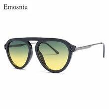 Gafas de sol redondas de moda para mujer, marca de Italia de Sol de estilo Retro Steampunk gótico con marco de Metal pequeño, gafas para mujer, UV400