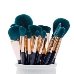 Image 5 - Jessup Makeup Brushes Set 15pcs Blue/Purple Powder Eyeshadow Eyeliner Contour Foundation Cosmetic pincel maquiagem Dropshipping