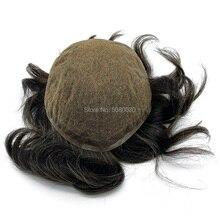 HRF Toupee ผู้ชาย swiss ฐานลูกไม้ขนาด 8*10 นิ้ว mens wigs ผมระบบสต็อกมนุษย์ remy ผม