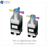 Lab Analysis High Pressure Microfluidic Solenoid Valve with Feedback Signals
