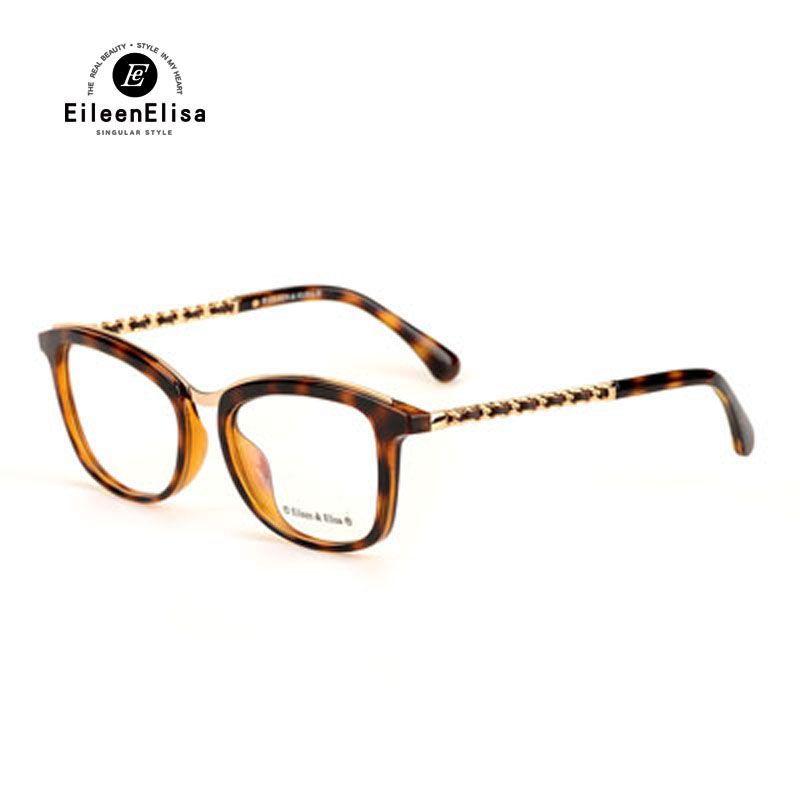 2016 ee brand myopia eyeglasses frame designer women men oculos 3352 simple vintage glasses clear lens