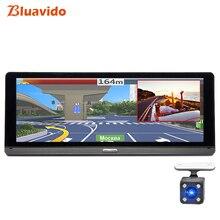 Bluavido 8 «ips Автомобильный dvr камера gps 4 г Android ADAS FHD 1080 P Dash cam двойной объектив Автомобильный видео регистратор ночного видения удаленный монитор
