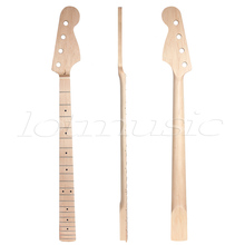 2Pcs Bass Guitar Neck Maple 4 String 21 Fret For Maple Bass Guitar Neck Replacement Parts