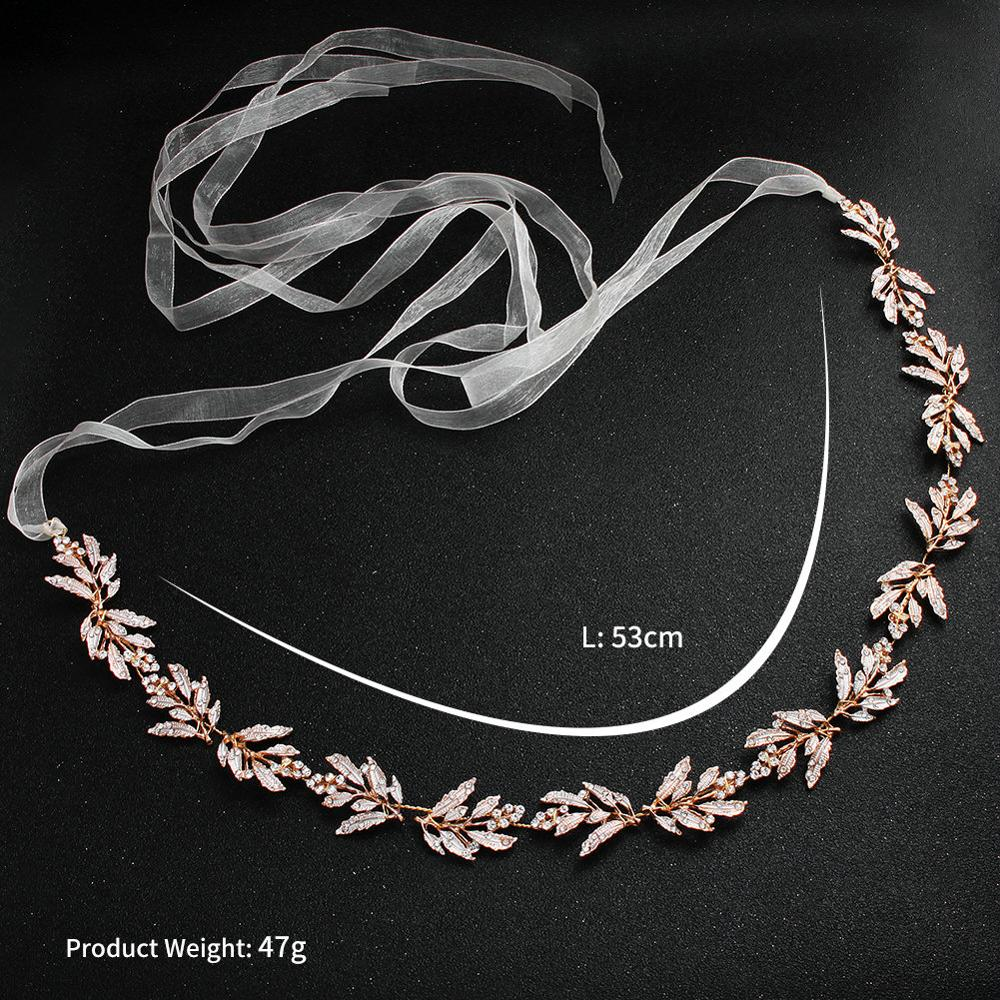 2019 Newest Arrival Rose Gold Wedding Belts and Sashes Alloy Bridal Sash Wedding Dress Accessories for Ladies in Bridal Blets from Weddings Events