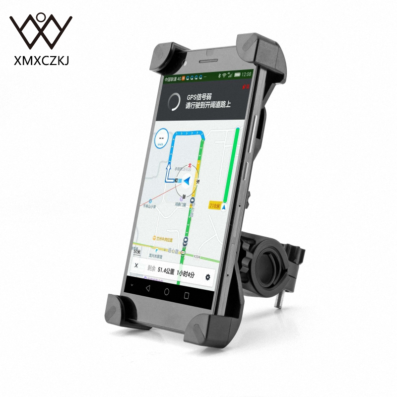 Anti-slip Universal 360 roterande cykelcykel telefonhållare styret klämställningsfäste för smart mobiltelefon