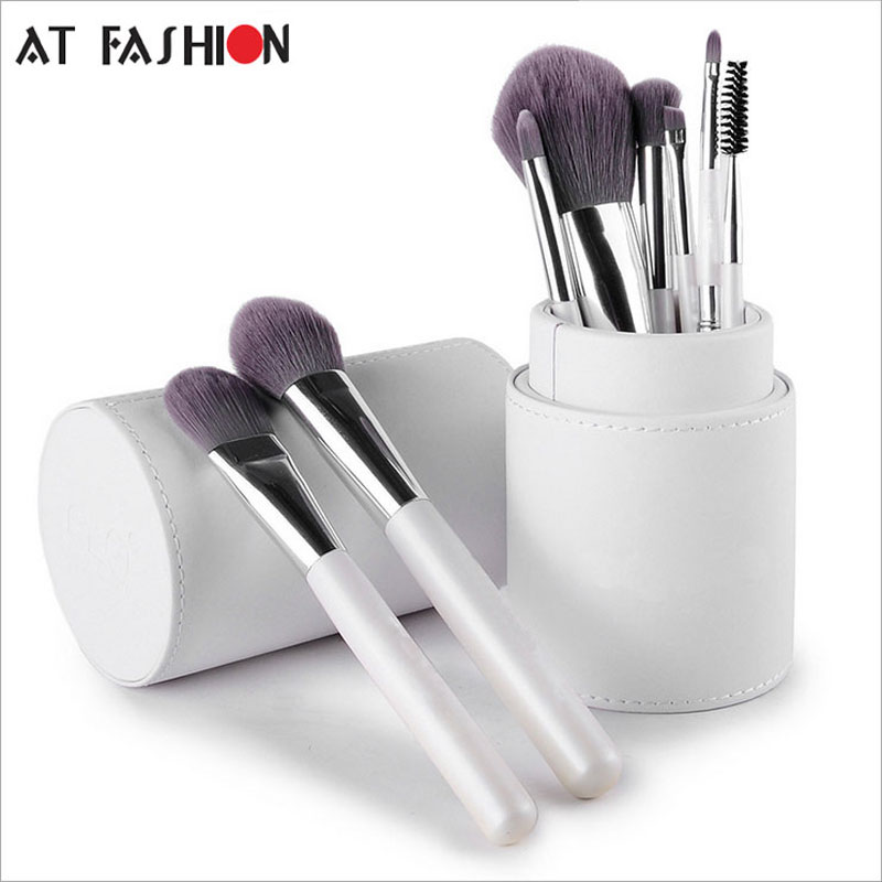 New Arrival Professional Makeup Brush Set Cosmetics Brushes 8pcs High Quality Top Synthetic Hair With Cylinder Holder Brush Set
