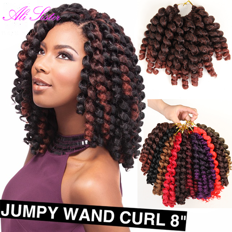 "Jamaica Hair Color: 8 10"" Braiding Hair Jumpy Wand Curl Twist Janet Crochet"
