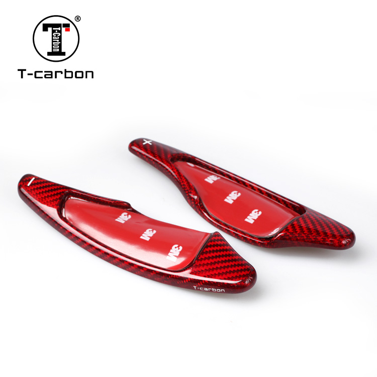 Car Styling Real Carbon Fiber Steering Wheel Shift Paddle Extension Shifter For Chevrolet Corvette C7 Interior Inner Decoration
