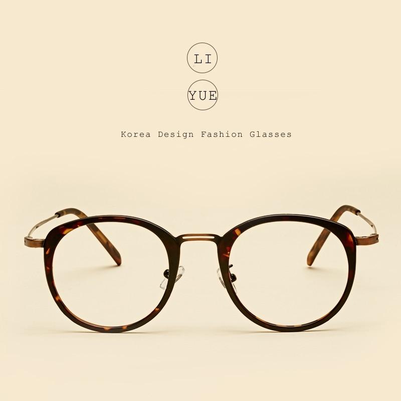 LIYUE Vintage Optische brillen Rahmen frauen Runde brille brillen ...
