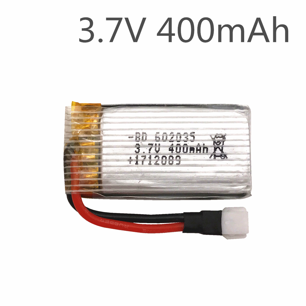 Limskey Original <font><b>Battery</b></font> For X4 H107 H31 Spare Parts 3.7V 400mah <font><b>Battery</b></font> H31-011 <font><b>Lipo</b></font> <font><b>battery</b></font> <font><b>3.7</b></font> V 400 mah For H31 XH plug 30C image