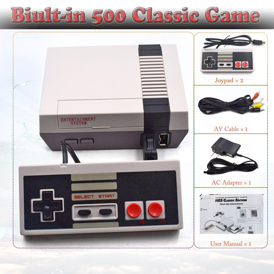 KYVG 8 bit AV Mini TV Retro Handheld Game Host Video Games Console Dual Gamepad for Nes Games Built-in 500 Games PAL&NTSC