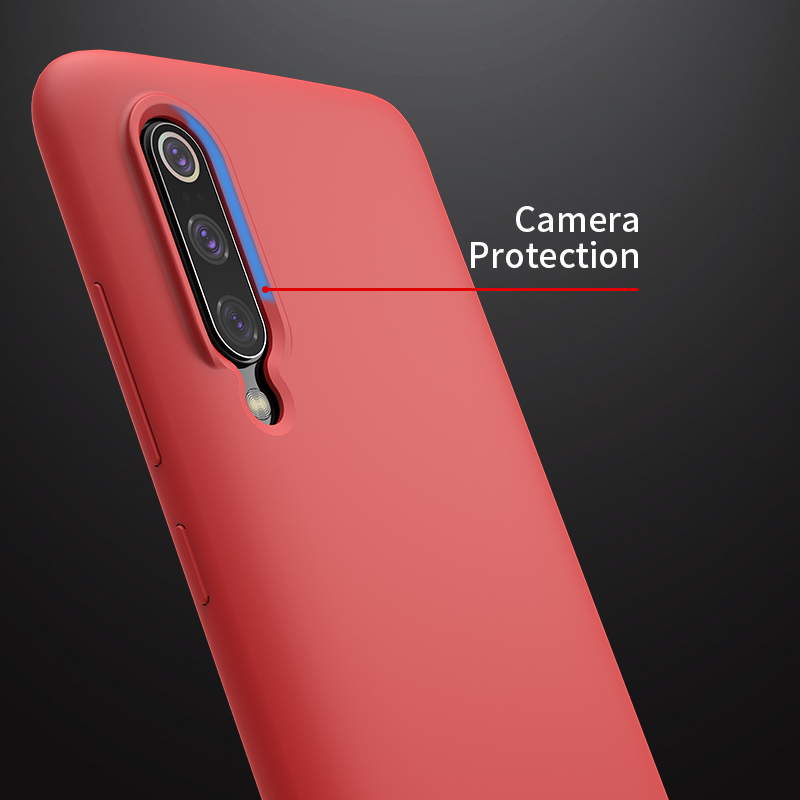 Nillkin for xiaomi mi 9 case Liquid Silicone Smooth Protective Back Cover for xiaomi mi9 case Mi 9 explore global case 6.39''(China)