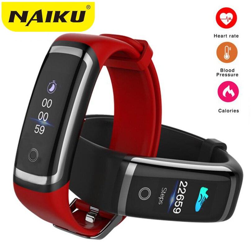 NAIKU Fitness Tracker M4 Moniteur de Fréquence Cardiaque Étanche Smart Bracelet Bluetooth Appel Rappel Sport Bracelet pour iOS Android