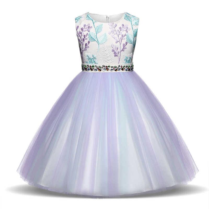 2deaabbcaa8 Vintage Kids Girl Floral Dress Toddler Girl Summer Sleeveless Clothing  Children Girl First Communication Infant Wedding