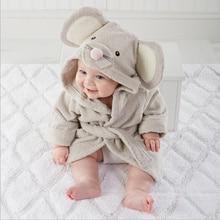 Детская одежда мальчики девочки Одежды новая зимняя весна осень мультфильм ребенка халат Пижамы & Robe зима Розовый кролик медведь