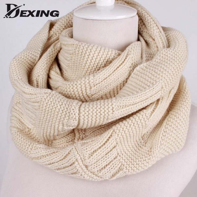 Cuello del invierno caliente bufanda de punto Bufandas chales ...