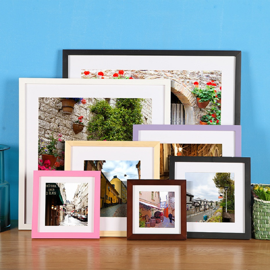 Refresh Minimalist Colorful Wood Frame Hanging Pictures Frame Modern Wall Art Photo Frame Desktop Frame Best Gifts Home Decor