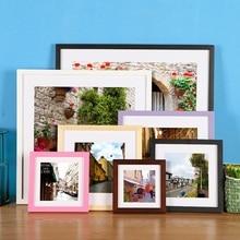 Обновленный минималистичный красочный деревянный каркас Висячие картины рамка Современная Настенная художественная фоторамка настольная рамка лучшие подарки Домашний декор
