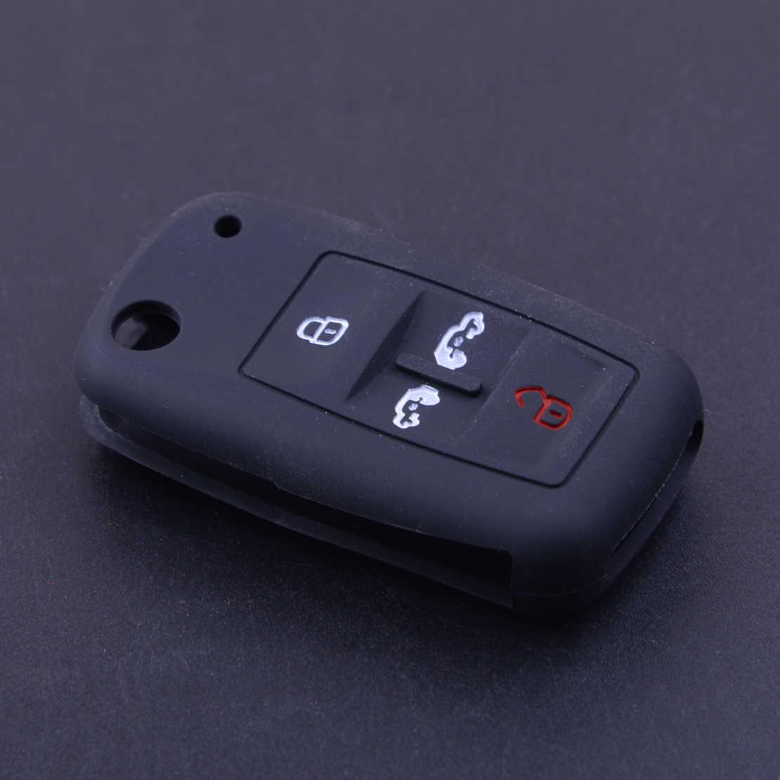 CITALL 4 ボタン車リモコンキーカバーケースフォブプロテクター Vw T5 トランスポーターマルチバンキャディー Alhambra シャランカラベル