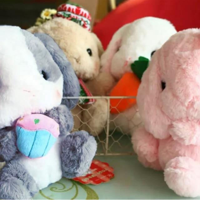 Lop Lembut Kelinci Mainan Mewah Merah Muda Boneka Mewah Kelinci