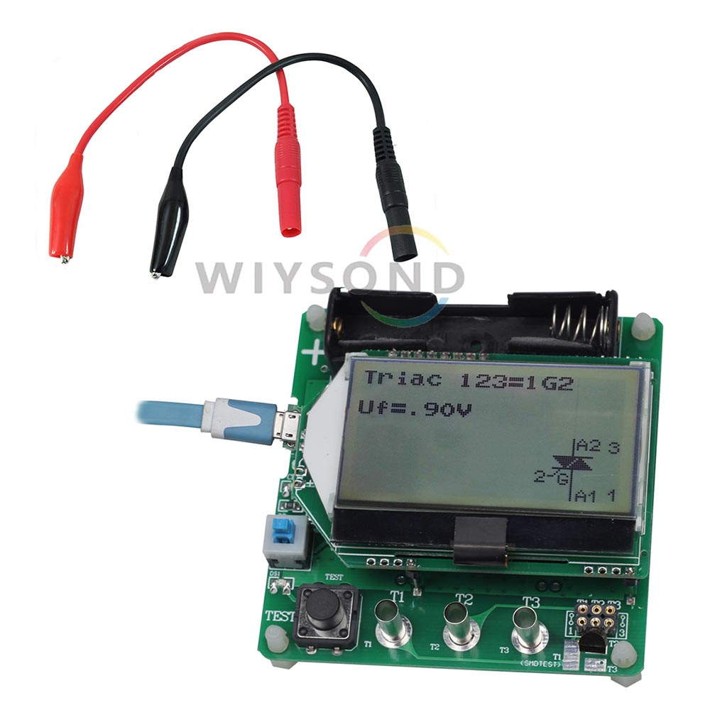 New M328 Transistor Tester Lcr Capacitance Mosfet Esr Meter With Quality Checker Buzzer M083 Esr02 Er Mos Pnp Npn