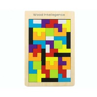 Hot Sale New Children Wooden Puzzles Toy Tangram Brain Teaser Puzzle Toys Educational Kids Jigsaw Board