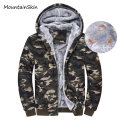 Mountainskin Mens Winter Jackets Hoodie Thermal Sweatshirt Thick Jackets Male Hooded Coat Men Zipper Fleece Warm Jacket LA084