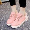 2017 Primavera Novas Mulheres Sapatos Da Moda Mulheres Sapatos Casuais Confortável Lace Up Flats Sapatas de Lona Plataforma Mulher Sapato