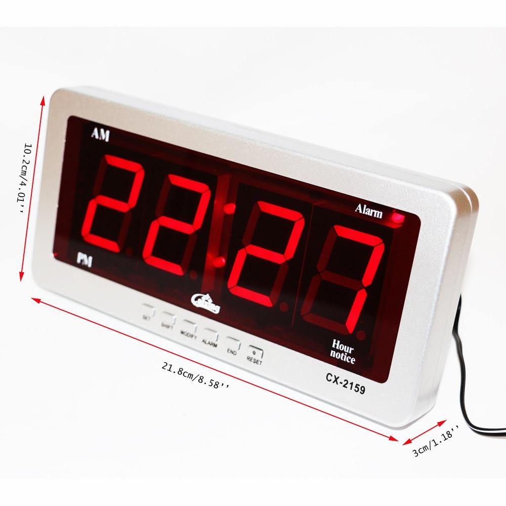 Rəqəmsal LED Siqnal Saatı Böyük Rəngli Masa Saatları Elektron - Ev dekoru - Fotoqrafiya 3