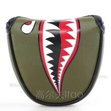 Golf Novo prilagojeno Golf Mollet Putter pokrivalo PU usnje Multi Style Nogometni krokodil Rdeči križ