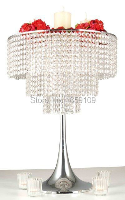 "Free shipment /acrylic crystal wedding centerpiece/Table centerpiece/Wedding chandelier/ 32"" tall"