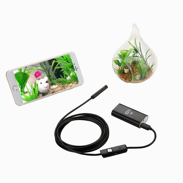 Mini Android IOS  Ipad Endoscope Inspection Camera Ip67 Waterproof Endoscope Camera Android 1m 8mm 6 Led PC Wifi Endoscope