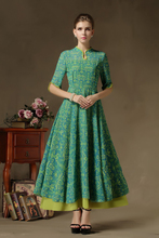 Elegant Long Sleeves Chiffon Women Evening Dress Kaftan plus size Clothing