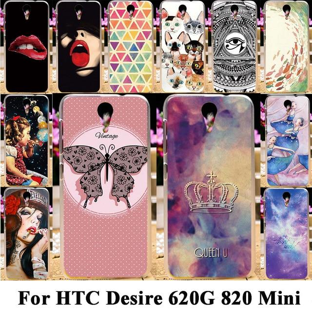 Taoyunxi Silicone Plastic Phone Cases For HTC Desire 620G HTC Desire 820 Mini D820mu Dual Sim 820mini 620 G Bag Cover Skin Case
