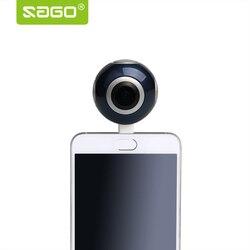Sago 360 camera HD 360 Panoramic Camera VR Camera 210 Degree Dual Wide Angle Fisheye Lens 360 Camera for Android PK insta 360