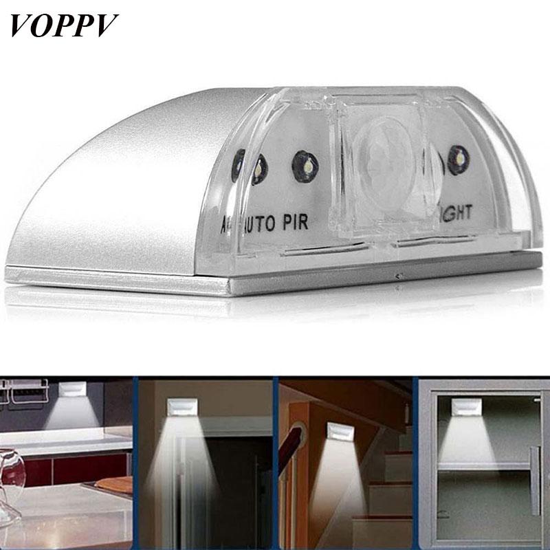 Voppv Wireless Led Pir Motion Sensor Lamp Bedside Lamp Cabinet Light Bedroom/cupboard Battery Intelligent Induction Led Light Lights & Lighting