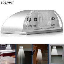 VOPPV Wireless LED PIR Motion Sensor Lamp Bedside Lamp Cabinet Light Bedroom/Cupboard Battery Intelligent Induction LED Light(China)