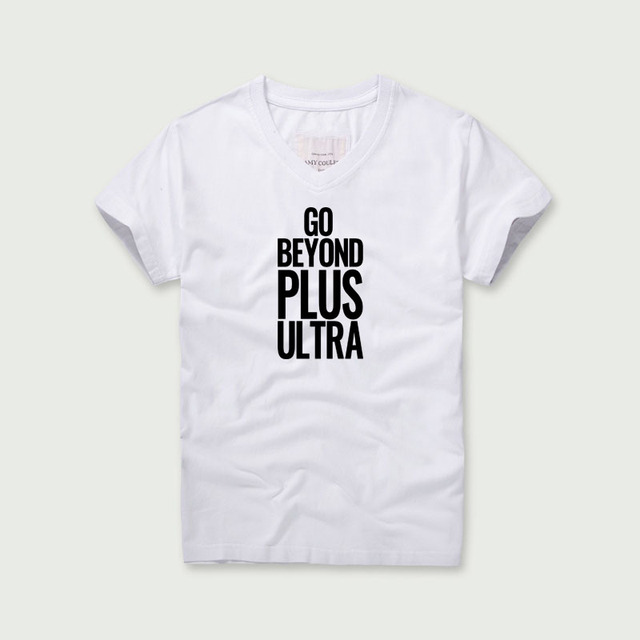 1530168a1db1 Go Beyond Plus Ultra Printing Short Sleeve T-Shirt 2018 My Hero Academy Tees  Men s Fashion 100% Cotton Cartoon Boys Tshirts