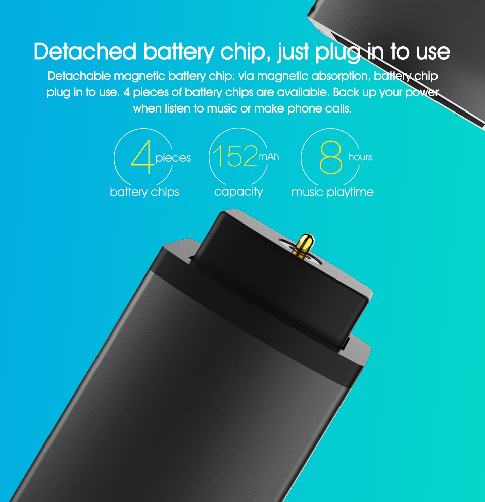 100% SYLLABLE D9X TWS Detachable Battery Wireless Bluetooth V4.2 Earphone Portable Lighter Charge Case Bluetooth Headset Earbud