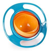 New Arrival High Quality Children Kid Baby Toy Universal 360 Rotate Spill Proof Bowl Dishes Free