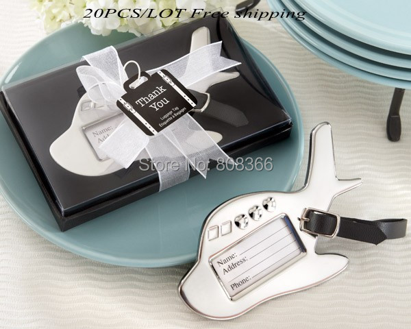 20 Pieces Lot Wedding Favor Travel Themed Airplane Luggage Tag Gift For Guests Party Decoration Bridal Shower In Favors From Home