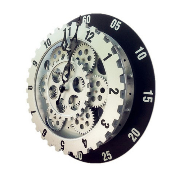 2017  New 12 Inch Gear Wall Clock Fashion Creative Living Room Decoration Wall Clock Personality Electronic Clock