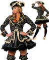 Trajes de Halloween para as mulheres traje do pirata para as mulheres Lolita Role Play uniforme Bar carnaval Cosplay
