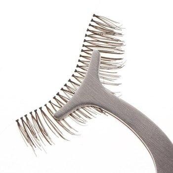 Wholesale 200pcs Makeup Tool Stainless Steel Eyelash Curler Multifunction false eyelashes tweezer Nipper Eyelash Clip Applicator