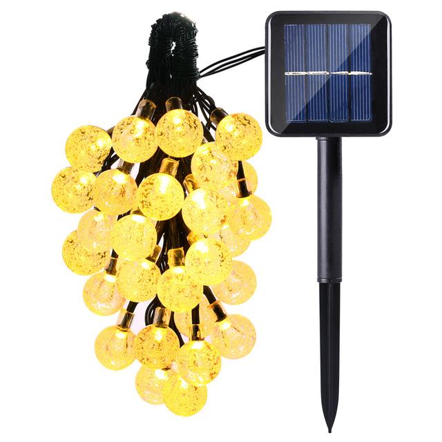 4 Pcs/lot lederTEK Solar Outdoor String Lights 20ft 30 LED Warm White Crystal Ball Solar Powered Globe Fairy Lights for outdoor