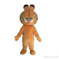 Cute Garfield Mascot Costume EVA Animals Cartoon Clothing Walking Cartoon Doll Dress Adult Size New Year Party Performing Props