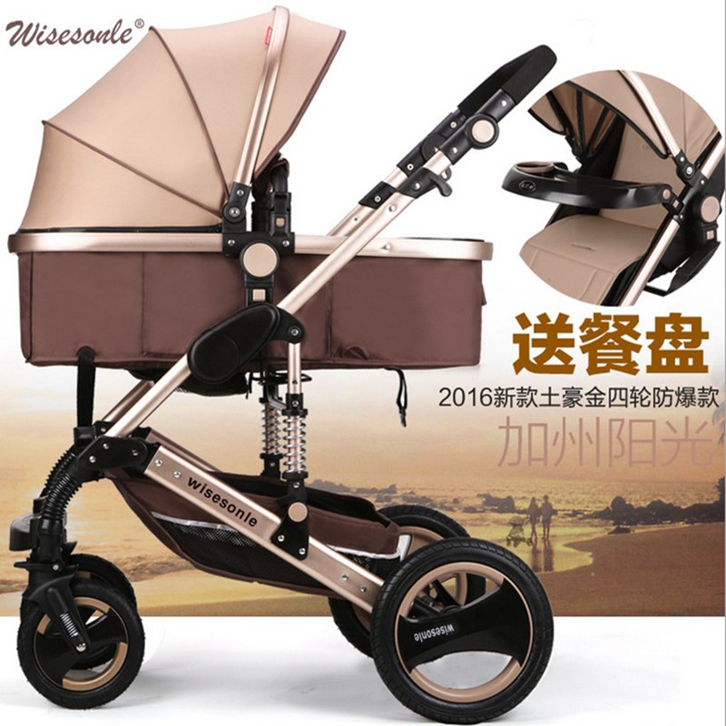 Stroller 3 in 1 baby stroller 2 in 1 0 - 3 years Multi-color choices Natural Rubber Four Wheel цена