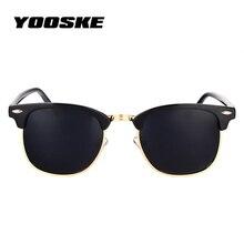 YOOSKE Classic Polarized Sunglasses Men Women Retro Brand Designer Sun Glasses Female Male Fashion Mirror UV400 Sunglass