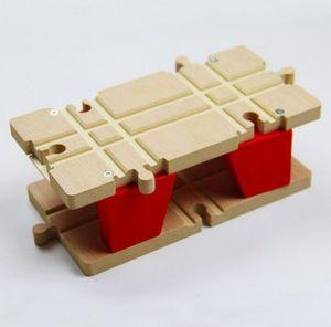 Image 2 - TTC51 H BRIDGE עץ צעצוע סצנת מסלול אביזרי BRIO צעצוע רכב משאית קטר רכבת צעצועים לילדי
